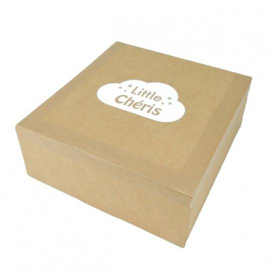 """Emballage de la Couverture """"Douillette"""" - BLEU chiné"""