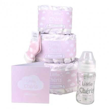 Gâteau Baby Shower - Rose