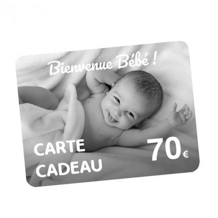 Carte Cadeau naissance 70€