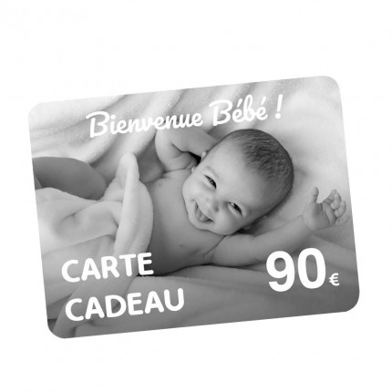 Carte Cadeau naissance 90€