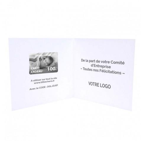Carte Cadeau naissance 100€