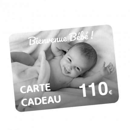 Carte Cadeau naissance 110€