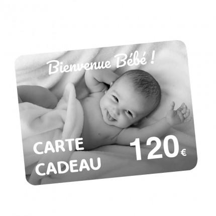 Carte Cadeau naissance 120€