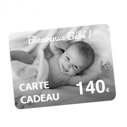 Carte Cadeau naissance 140€