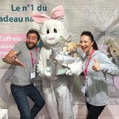 Rabbit team au 🔝! Ce soir marque la fin de notre première journée au SalonCE de Paris La Défense. Des rigolades, de belles rencontres et un sourire accroché aux lèvres rien que d'écrire ce post 😋 Vivement demain qu'on remette ça 🙌🏻🥕 #cadeaunaissance #comitedentreprise #ressourceshumaines #cadeaubebe