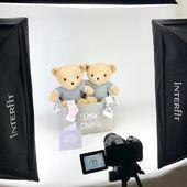 Shooting-time! Vous êtes nombreux à nous demander des cadeaux pour jumeaux! Les nouveaux paniers naissance «jumeaux» bientôt en ligne! #cadeaunaissanceoriginal #jumeaux #cadeaunaissancepersonnalisé #littlecheris #bebejumeau